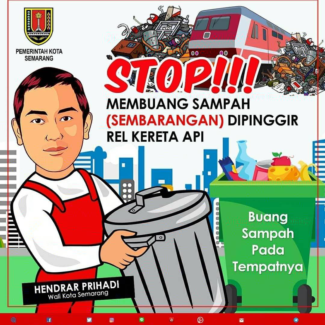 Pemkot Semarang Stop Buang Sampah Di Pinggir Rel Ka Sipu Dpu Kota Semarang